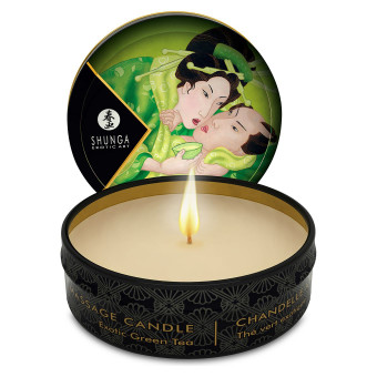 Массажная свеча Shunga Mini Massage Candle - Exotic Green Tea (30 мл) с афродизиаками
